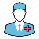 doctor, health care, male doctor, medical, surgeon icon