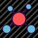 atom, biology, helix, molecule, nucleus, research, science icon