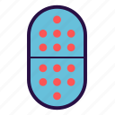 capsule, drugs, medical, mediicine, pills, tablet icon