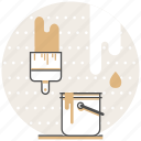 brush, bucket, concept, creative, design, paint, process icon