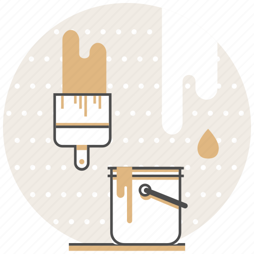 Brush, bucket, concept, creative, design, paint, process icon - Download on Iconfinder