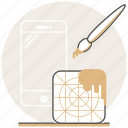 app, brush, concept, creative, design, mobile, process icon