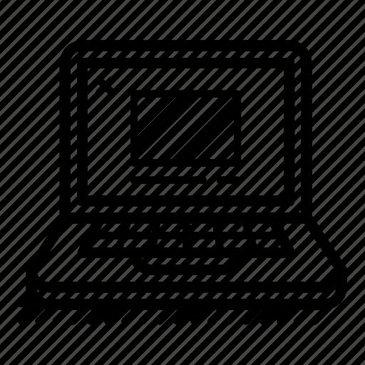 design, interface, laptop, ui, ux, web design, work icon
