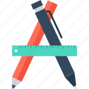 art, design, development, draw, graphic, pencil, ruler icon