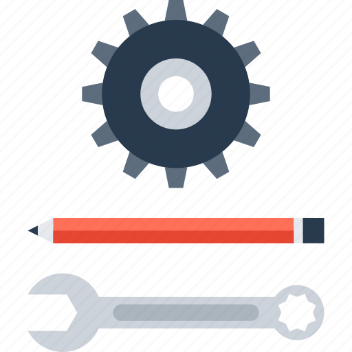 Engineering, design, instrument, development, tool, settings, options icon