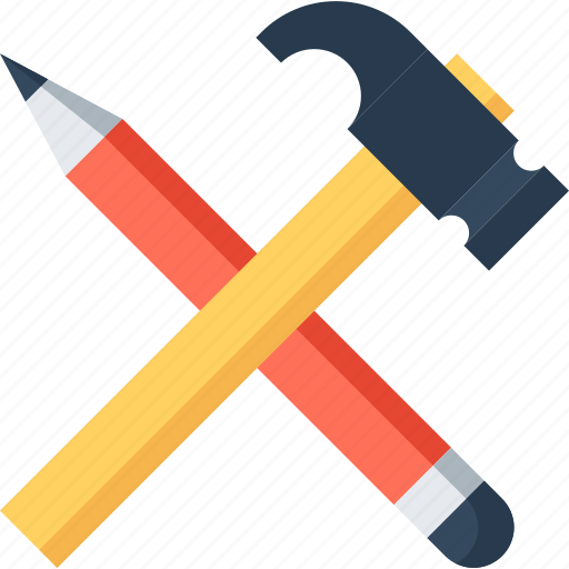 Https Www Iconfinder Com Icons 390344 Build Design Development Hammer Instrument Pencil Tool Icon