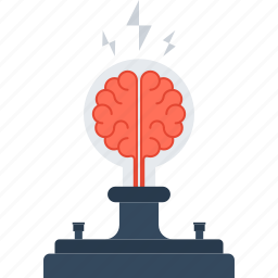 brain, brainstorm, bulb, idea, light, research, solution icon