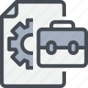 business, extension, file, management, process icon