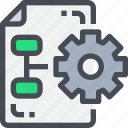 configuration, gear, management, preferences, process, setting, settings icon