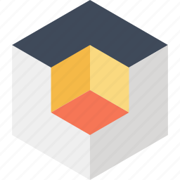 3d, box, cube, design, development, digital, modeling icon