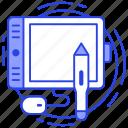 digital art board, digital artwork, drawing tablet, graphic editor, graphic tablet, pen tablet icon