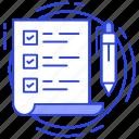 bulleted list, checklist, item list, order list, todo list icon