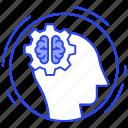 artificial intelligence, brain development, brain energy, brainstorming, creative thinking icon