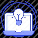 business idea, creativity, inspiration, online innovation, ready solution icon