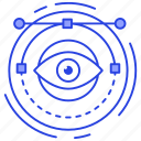 monitoring, observation, view, visualization, watching icon