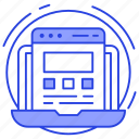 graphic design, responsive design, user interface, ux design, web design icon