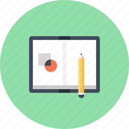 art, concept, design, drawing, graphic, notebook, sketch icon