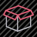 box, carton, delivery, open, parcel