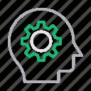 creative, face, head, mind, setting icon