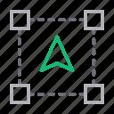 arrow, creative, cursor, design, process icon
