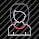 avatar, female, profile, user, women icon