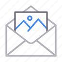 email, image, message, photo, picture icon