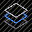 creative, design, layers, process, slides icon