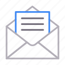 email, envelope, inbox, message, open
