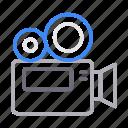 camera, capture, gadget, movie, recording icon