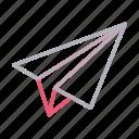 direction, message, navigation, paperplane, send icon