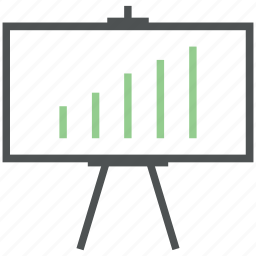 chart, chart board, diagram, increasing, projection screen, whiteboard icon