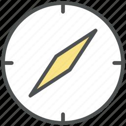 compass, directional tool, gps, navigational, speedometer icon