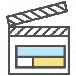 clapboard, clapper, clapper board, multimedia, slate board, sync slate, time slate icon