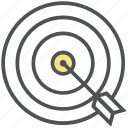 bullseye, bullseye arrow, dartboard, goal, mission, shooting, target icon