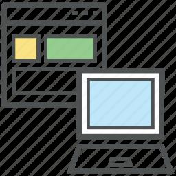 adaptive, adaptive design, laptop, layout, responsive, web design icon