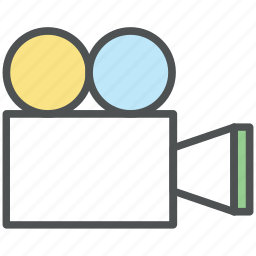 camera, film camera, film recorder, filmmaking camera, movie camera, movie shoot icon