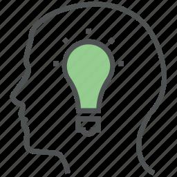 brain, brainstorm, concept, creative mind, creativity, idea, idea in mind, ideology, think icon