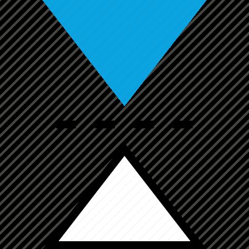 copy, design, graphic, triangles icon