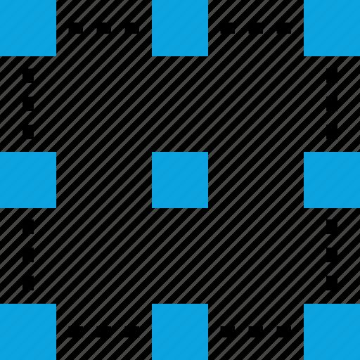 corners, creative process, edit, editing icon