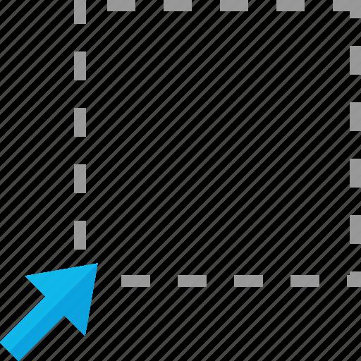 arrow, click, design, drag icon