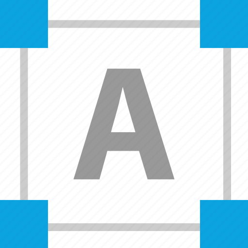 corners, design, edit, text icon