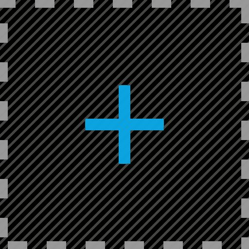 add, cross, plus, target icon