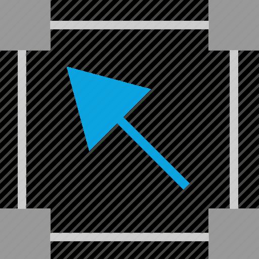 arrow, creative, marque, points icon