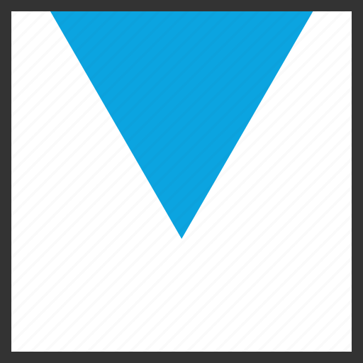 abstract, arrow, creative, down, point icon