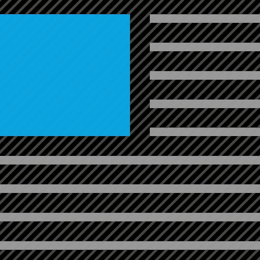 design, left, mockup, text icon