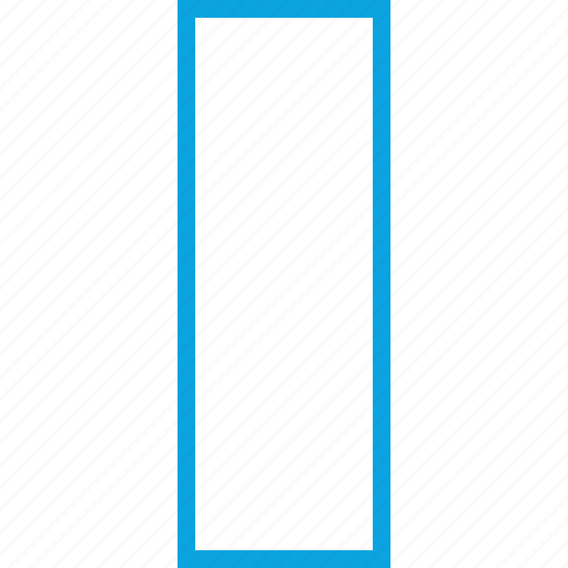 indesign, rectangle, standing, vertical icon
