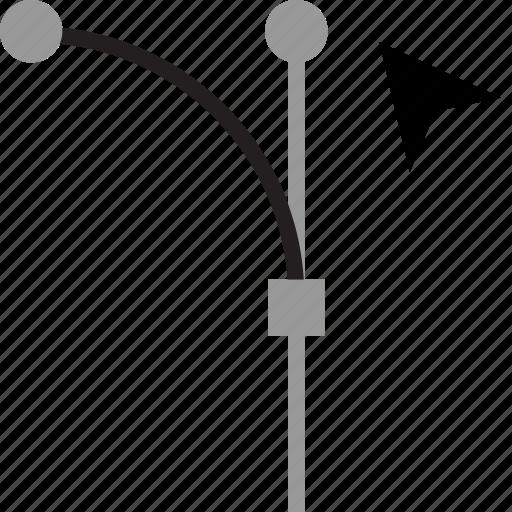 arrow, curve, edit, point icon