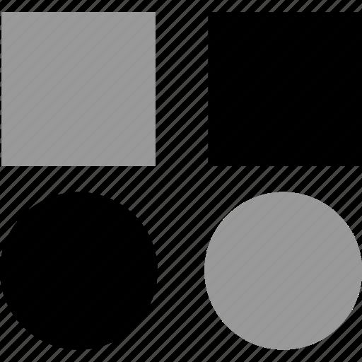 block, creative, design, four icon