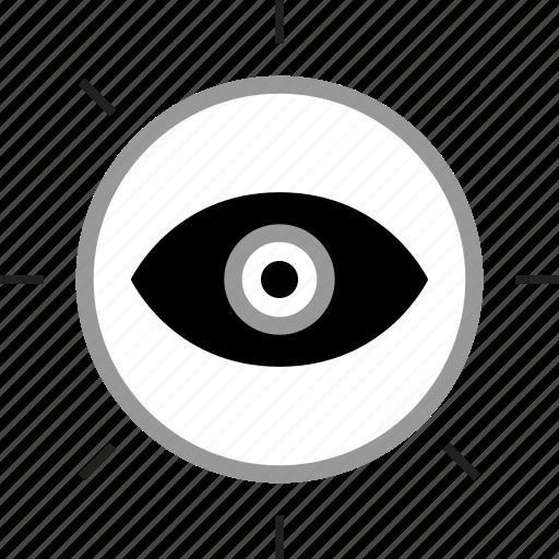 eye, eyedrop, views, watch icon