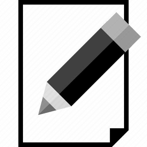 creative, page, paper, pencil icon